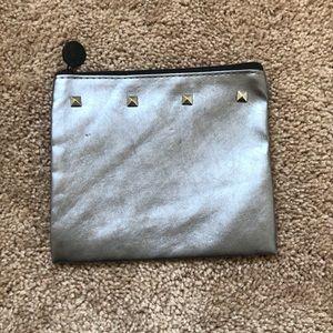 Silver Ipsy Makeup Bag